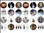 24 x Lego Star Wars Game Edible Rice Wafer Paper Cup Cake Bun Toppers